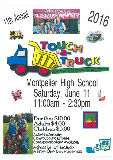 Touch a truck poster
