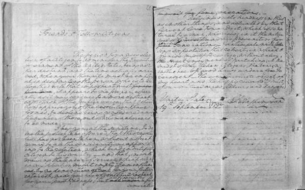 Old Document in Black and White