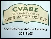 A logo of a book open with the initials CVABE