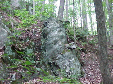 A large exposed rock located in Hubbard Park
