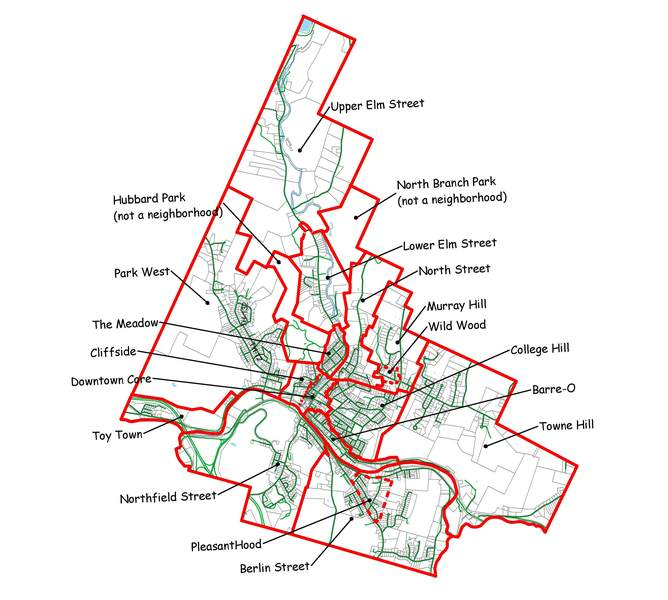 Capital Area Neighborhoods Map