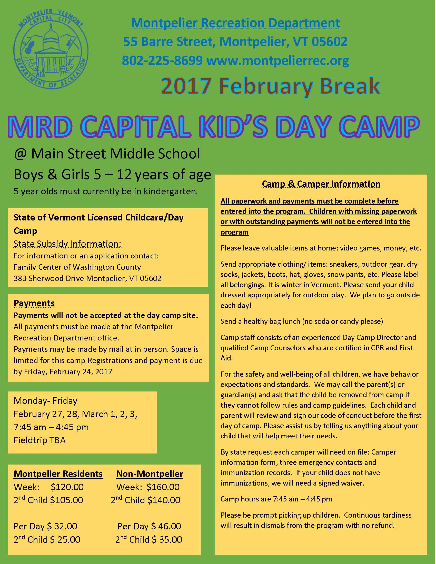 2017 Feb Youth Camp
