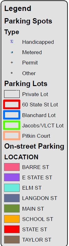 Parking Map Legend