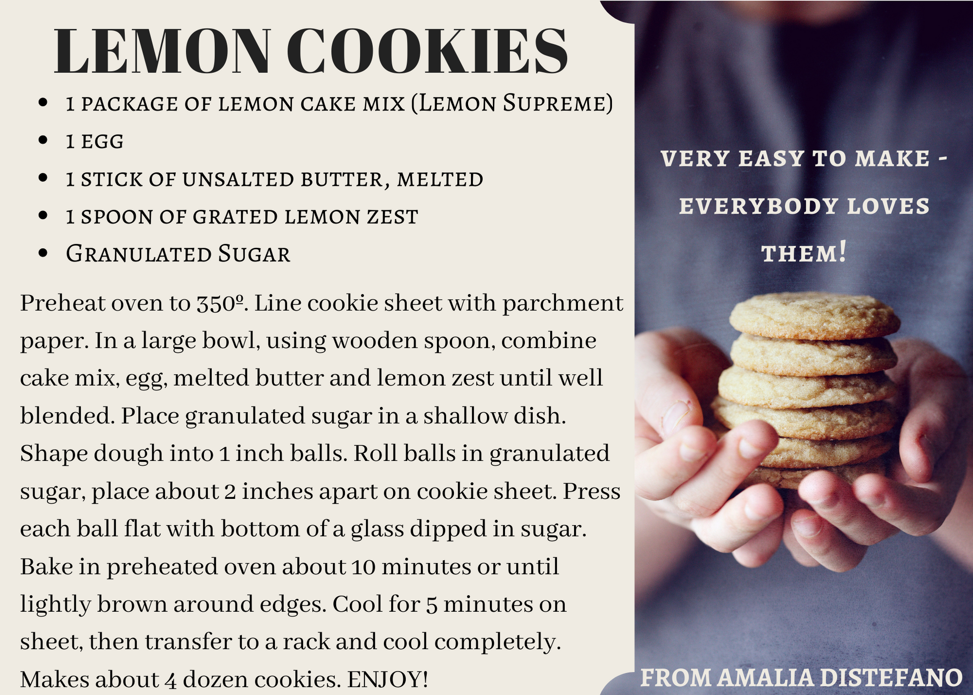 Lemon Cookies for March Opens in new window